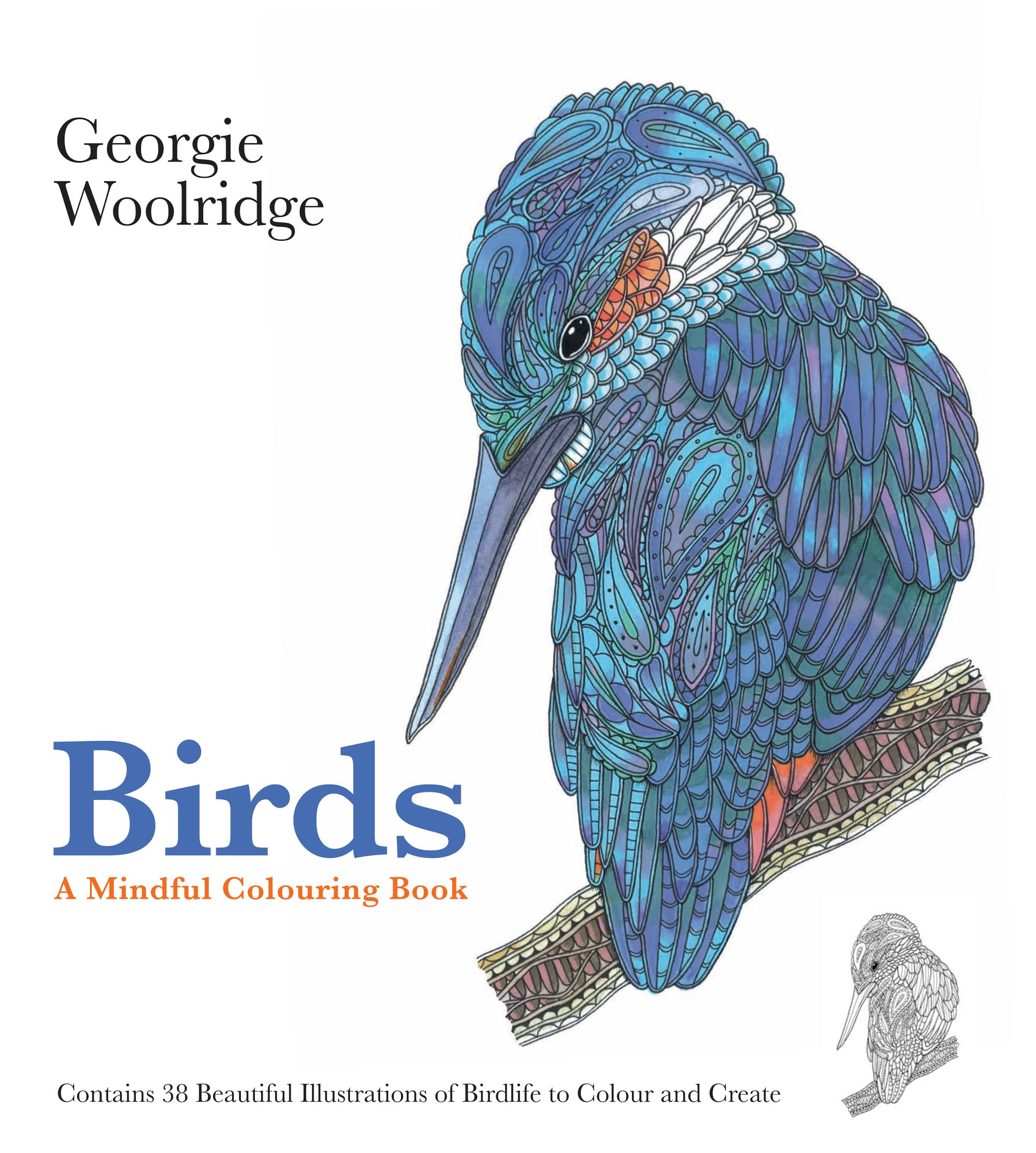 a mindful colouring book birds georgie woolridge